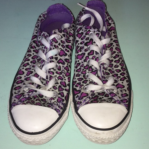 Converse Other - Converse leopard print shoes